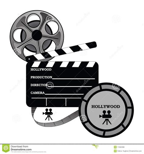 up film clip hollywood take one production stock vector image 11362398