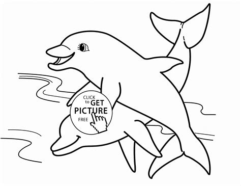animal coloring pages dolphin two dolphins animal coloring page for kids sea animal