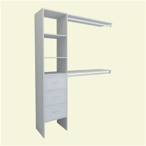 closetmaid selectives 16 in white closetmaid selectives 82 46 in h x 108 in w x 14 57 in