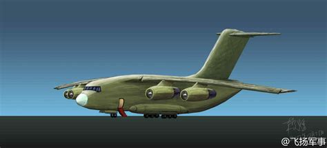 military transport artistic impression of chinese y 20 strategic military
