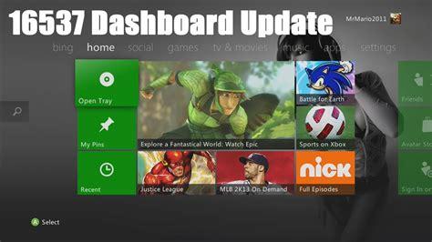 xbox 360 dashboard xbox 360 dashboard 16537 august 2013 info updates