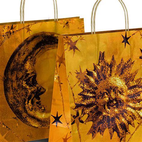 Paperbag Moon sun moon design paper bags bags carrier bag shop