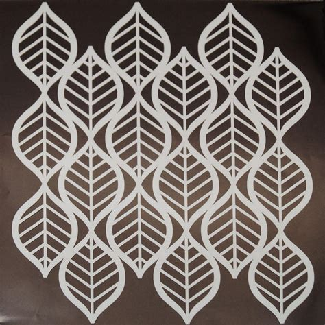 Stencil Stensil Pattern Paint Cetakan deco leaves pattern stencil glass delphi glass