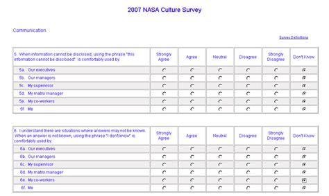 2007 nasa culture survey