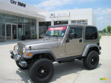 jeep metallic 2005 light khaki metallic jeep wrangler rubicon 4x4