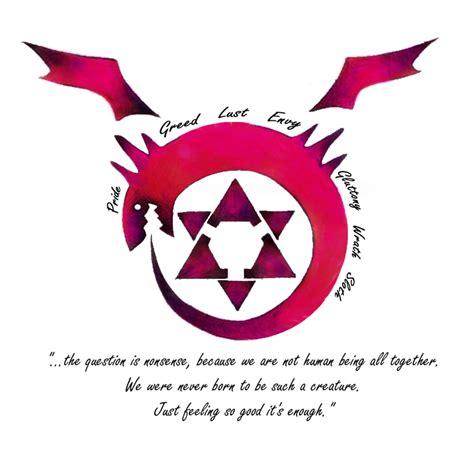 homunculus tattoo fullmetal alchemist brotherhood homunculus symbol www