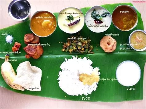 tami cuisine 4 answers what is the order of serving south indian