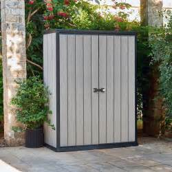 armoire de jardin en r 233 sine coloris gris 1560l brossium