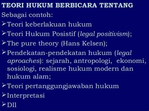 Ilmu Hukum Filsafat Hukum filsafat hukum