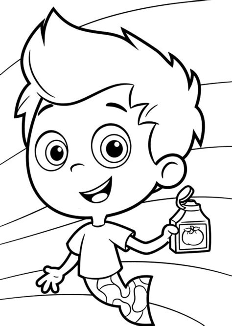 bubble kitty coloring page bubble guppies picture auto design tech