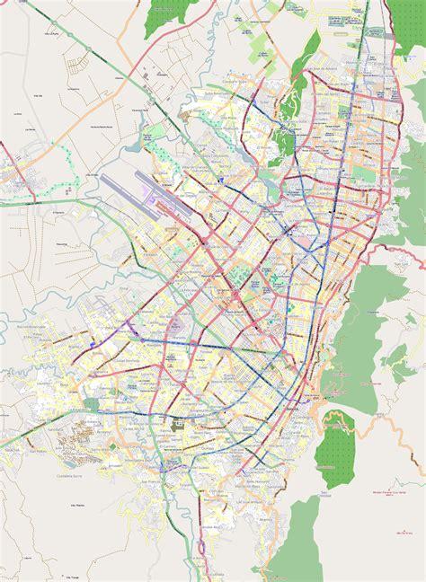 south america map bogota detailed road map of bogota city bogota colombia