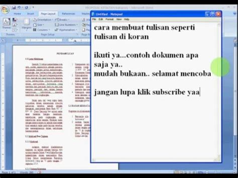 cara membuat halaman koran di word cara mudah membuat tulisan seperti koran di ms word youtube
