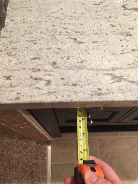 Maximum Overhang For Granite Countertop by Granite Countertops Installed With Much Overhang