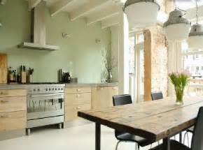 cuisine peinture vert d eau et meubles design ch 234 ne clair