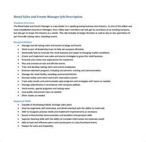 events manager description template 11 sales manager description templates free sle