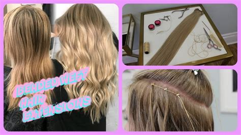 beaded weft hair extensions highlights hair painting