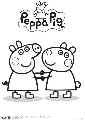 peppa pig birthday coloring pages peppa pig and friends colouring in printable bub hub