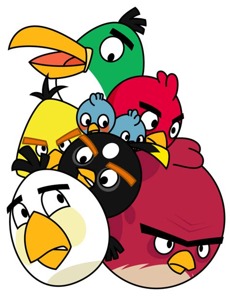 Angry Birds Isi 4 pile of angry birds by gav imp on deviantart