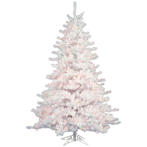 white christmas trees casual cottage