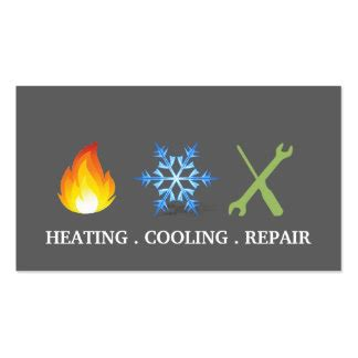 heating and cooling business card templates heating cooling business cards templates zazzle
