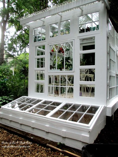 building  repurposed windows greenhouse  fairfield