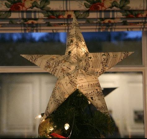 diy xmas tree top star book page ornaments 22 upcycled ideas