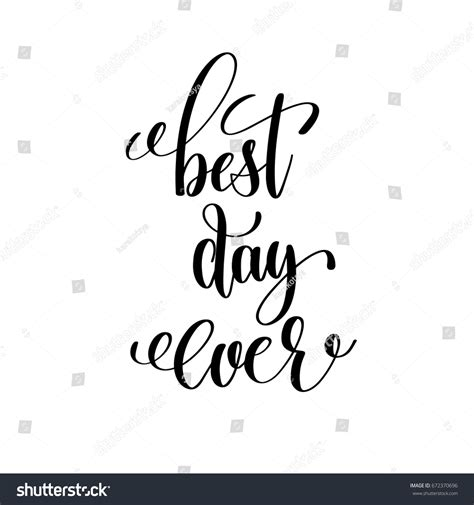 Best Day best day black white stock vector 672370696