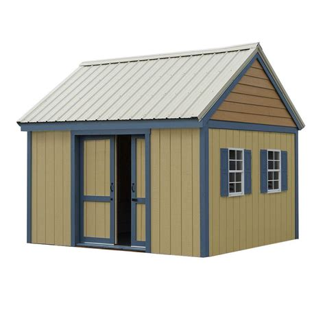 metal shed kits best barns brookhaven 10 ft x 12 ft wood storage shed kit bhaven1012 the home depot