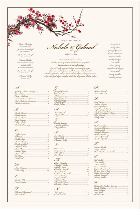 wedding seating chart template wedding ceremony trend model wedding seating chart