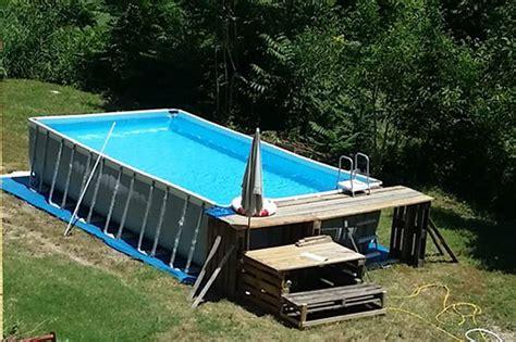 piscine fuori terra rivestite in legno piscine fuori terra pescara edilpool