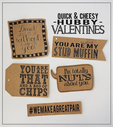 cheap valentines day gifts for husband cheesy hubby valentines eighteen25