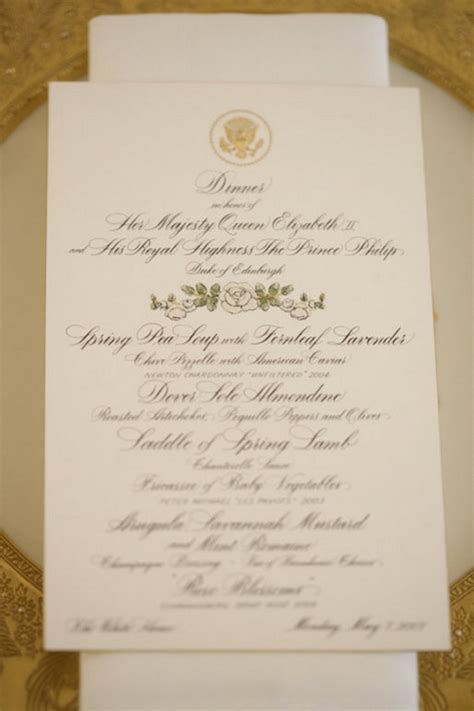 White House State Dinner Menu Images Table Dc Menu