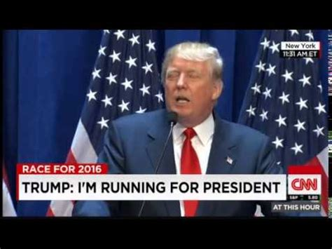 donald trump is running for president in 2016 donald trump running for president 2016 video i m really