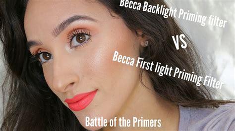 becca light primer becca backlight primer vs firstlight primer