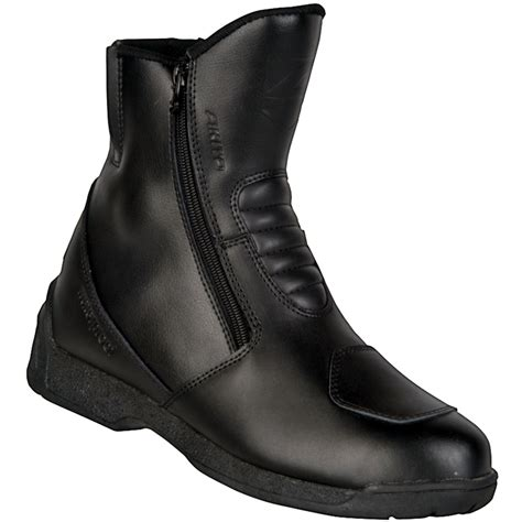 waterproof leather motorcycle boots akito miami short leather summer waterproof motorbike