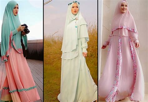 Gamis Wanitamaxibusana Muslimhijabgamis Syari Lyra Blue Pink til makin cantik dalam balutan syar i bisa dong ini caranya