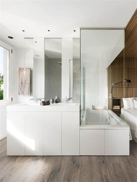 Glass Bathroom In Bedroom Apartment Fancy Bathroom In Bedroom With Glass Wall And