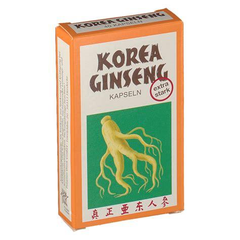 Ginseng Korea korea ginseng kapseln stark shop apotheke