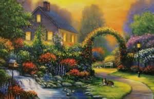 Landscape Jigsaw Puzzles Jigsaw Puzzle Landscape Cottage In Bloom 1000 Pc Nib Ebay