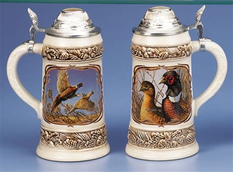 steins artificial trees meger pheasant stein authentic steins from germany 1001beersteins