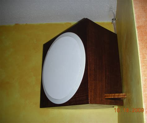 Ceiling Mounted Speaker by Ceiling Speakers Mounted Into Faux Speaker Boxes 2