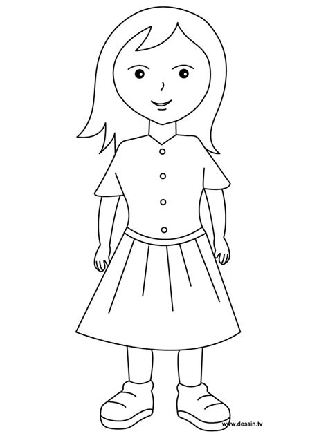coloring pages a girl coloring pages of a girl kids games pinterest