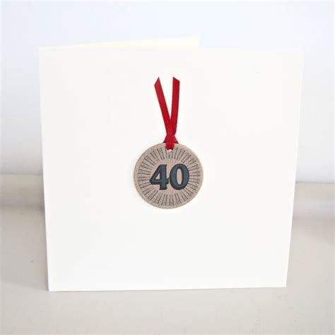 Handmade 40th Birthday Card - handmade 40th birthday card by chapel cards