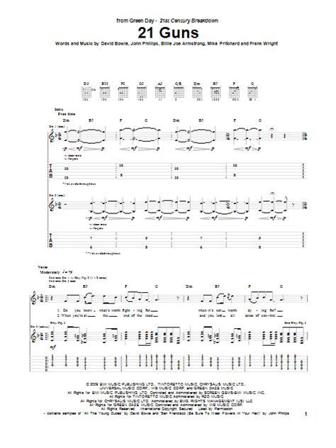 guitar tutorial 21 guns 21 guns by green day guitar tab guitar instructor
