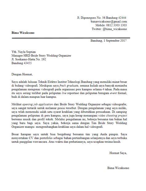 Contoh Cover Surat Lamaran Kerja by 3 Poin Penting Seputar Pembuatan Surat Lamaran Kerja Study