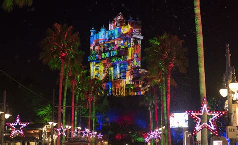 universal studios hollywood light show new holiday decor and shows light up disney s hollywood