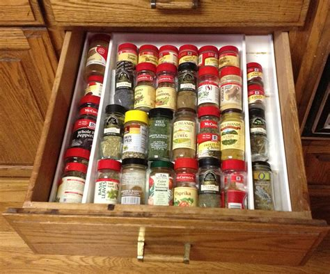 20 best ideas about drawer spice racks