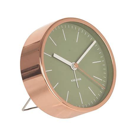 karlsson minimal with copper surround 10cm silent alarm clock ebay