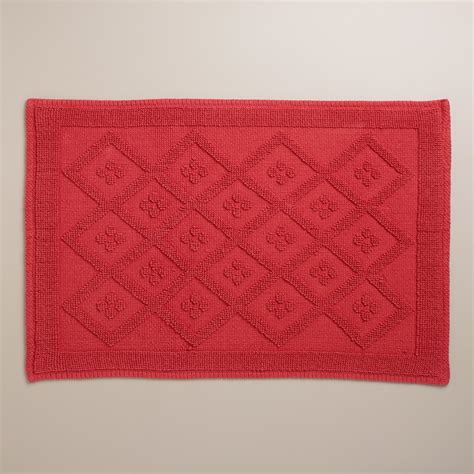 coral bathroom rug coral woven diamond bath mat world market