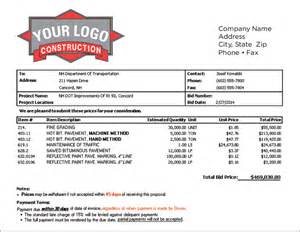 Bid Package Template by Lawn Care Estimate Forms Free Printable Studio